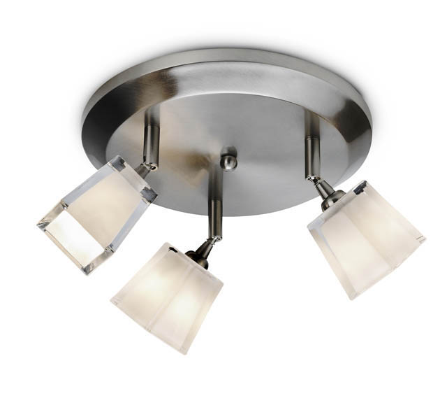 Three Light Halogen Cube Ceiling Fixture #12798